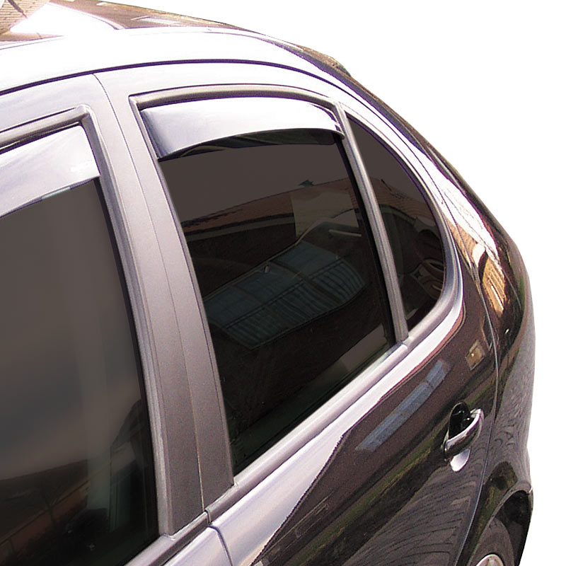 Zijwindschermen Master Dark (achter) Hyundai Ioniq 5 deurs 2016-