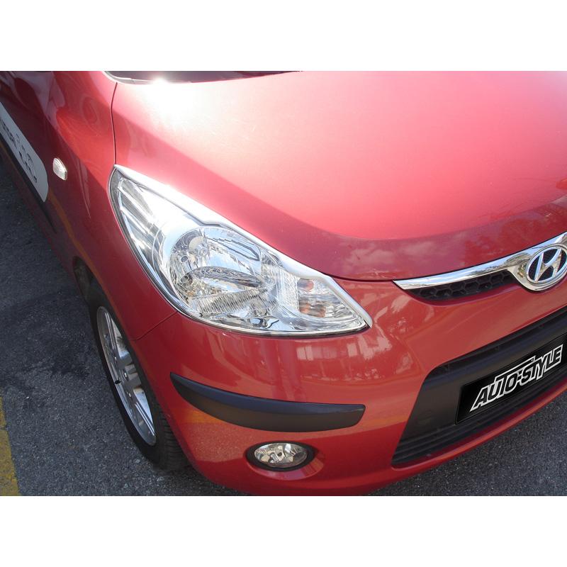 Koplampspoilers Hyundai i10 2008-2013 (ABS)