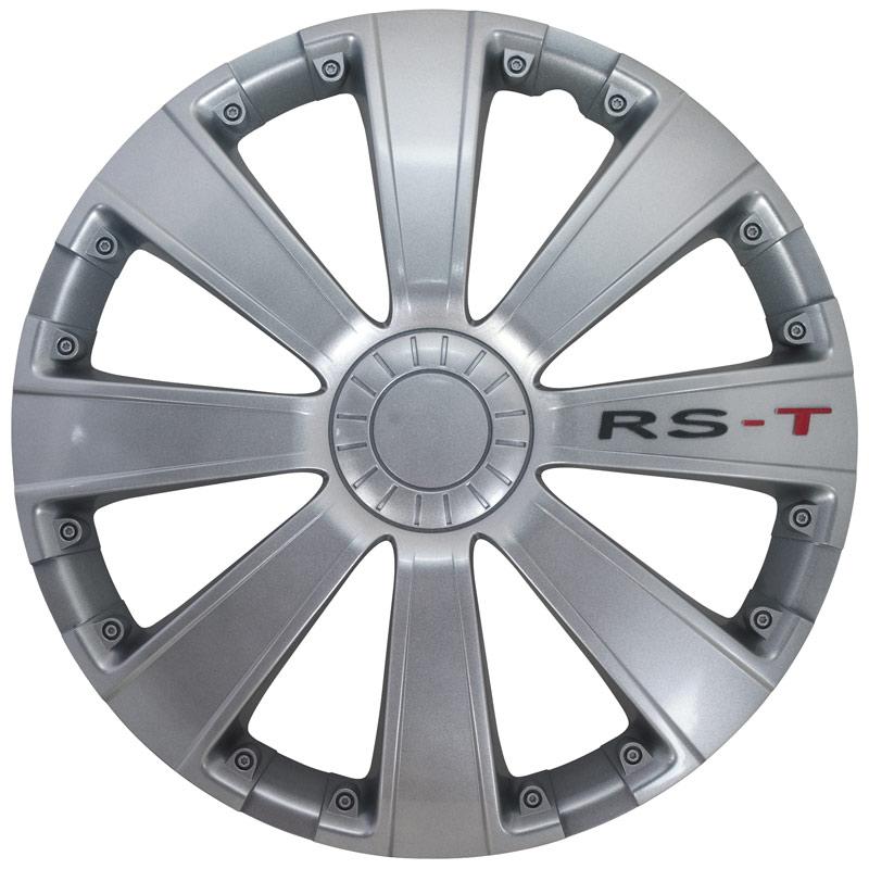 4-Delige Wieldoppenset RS-T 13-inch zilver